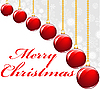 rote Weihnachtkugeln