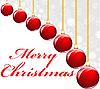 Rote Weihnachtkugeln | Stock Vektrografik