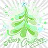 翠绿的圣诞树 | 向量插图