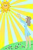 Mädchen und Sonne