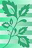 绿色的植物 | 向量插图