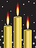 Золотые свечи | Векторный клипарт