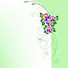 ID 3133552 | Arch fiołkami | Klipart wektorowy | KLIPARTO