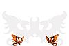 Zwei mittelalterliche Drachen.