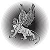 große mythologische Griffin.
