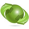 Kugel und grüne Pfeile | Stock Vektrografik
