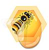 ID 3095941 | Biene und Honig | Stock Vektorgrafik | CLIPARTO