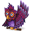 überraschter Vogel