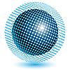 Синий шар векторный клипарт