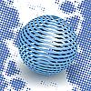 Blue ball | Stock Vector Graphics