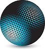 Синий шар | Векторный клипарт