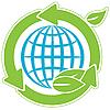 Globe und grünen Pfeile | Stock Vektrografik