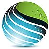 蓝色的地球 | 向量插图