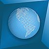 Синий земной шар | Векторный клипарт