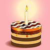 Kuchen und Kerze