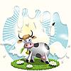 Kuh und Milch