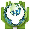 鸽子和全球 | 向量插图