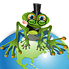 Frosch in Brille