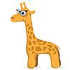 Векторный клипарт: мультяшный жираф
