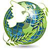地球和鸽子 | 向量插图