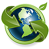 ID 3096854 | Erdkugel und grüne Pfeile | Stock Vektorgrafik | CLIPARTO