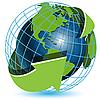 ID 3096856 | Erdkugel und grüne Pfeile | Stock Vektorgrafik | CLIPARTO