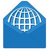 Мир в конверте | Векторный клипарт