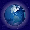 Земной шар в космосе | Векторный клипарт