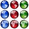 Земные шары | Векторный клипарт