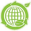 Grüne Erdkugel und Pfeile | Stock Vektrografik