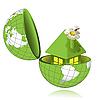 Зеленый дом в глобусе | Векторный клипарт