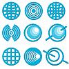 Ikony z Globów | Stock Vector Graphics