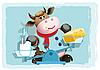 Kuh, Milch und Käse