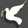 Vektor Cliparts: weiße Taube