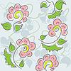 Vektor Cliparts: Nahtlose Textur mit Blumen