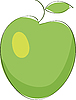 Vektor Cliparts: grüner Apfel