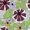 Vektor Cliparts: Nahtlose Textur der Blumen