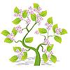 Vektor Cliparts: blühender Baum
