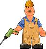 Vektor Cliparts: Arbeiter