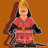Vektor Cliparts: Feuerwehrmann
