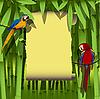 Rahmen mit Papageien