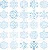 Vektor Cliparts: Schneeflocken