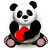 Panda mit Herzen