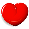 Vektor Cliparts: rotes Herz