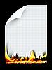 Vektor Cliparts: brennenden Stück Papier