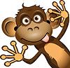 滑稽的猴子 | 向量插图