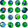 ID 3369602 | Blue balls and green arrows | Klipart wektorowy | KLIPARTO