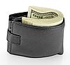 Schwarze Leder-Geldbörse mit Geld | Stock Foto