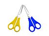 Zwei Scheren mit Kunststoffgriffen | Stock Foto