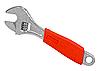 Schraubenschlüssel mit einem roten Griff | Stock Foto